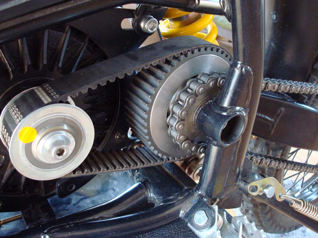 A freewheel clutch for the quantya electric motorcycle for Freewheel sprocket for electric motor